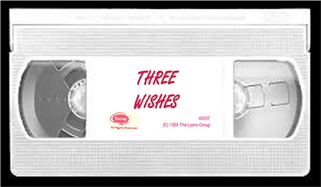 Image - Three Wishes Fake 1996 VHS Tape Label.png
