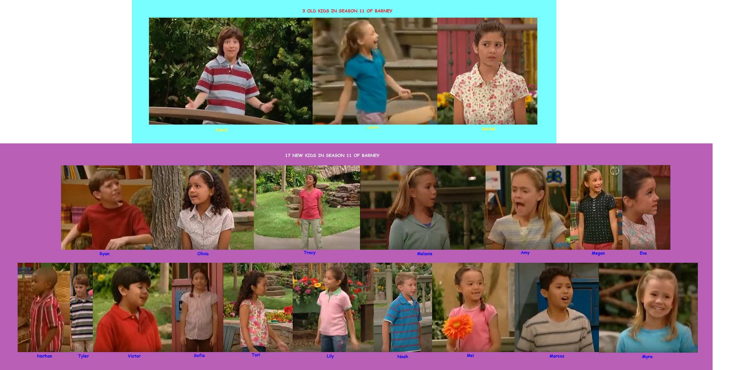 Old and New Kids in Season 11 of Barney & Friends (battybarney2014\'s ...