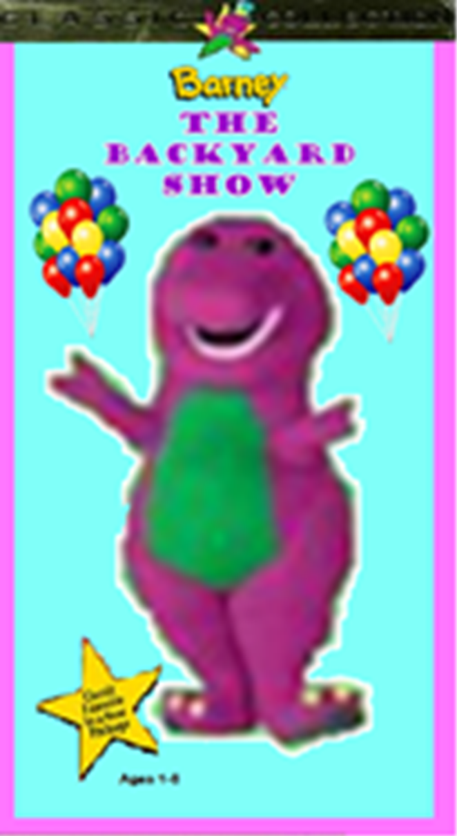 Barney The Backyard Show Original Version image - barney the backyard show fake 1996 vhs | custom time