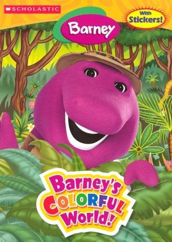 Barney\'s Colorful World! (coloring book/sticker book/book ...