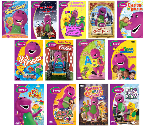 Barney Season 9 DVDs (2003, 2004 And 2005) (Fake