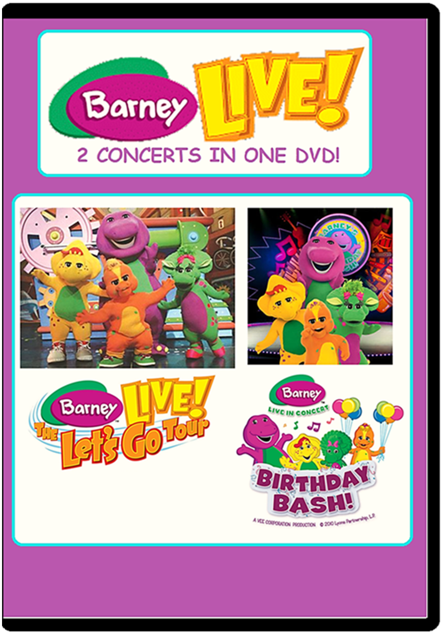 Barney Live! - 2 Concerts in One DVD! (battybarney2014's