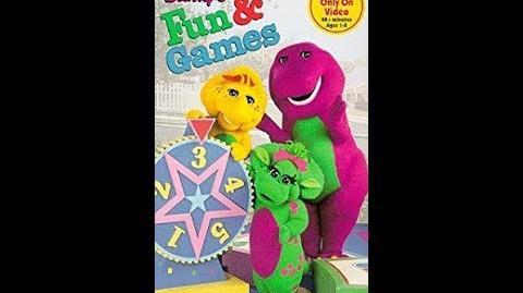 Video - Barney's Fun & Games (1996)-3 | Custom Time Warner