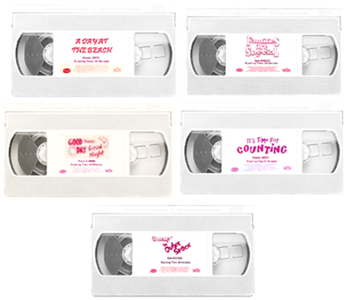 Fake Barney VHS Tape Labels Re-Released On August