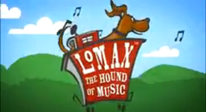 Lomax, the Hound of Music Title Card