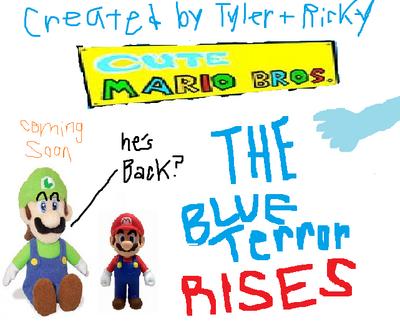 The Blue Terror Rises finish logo
