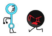 Black ball angry at bubble wand