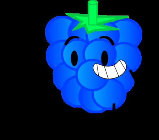 Cartoon blue raspberry
