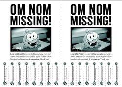 Om Nom Is Missing Poster