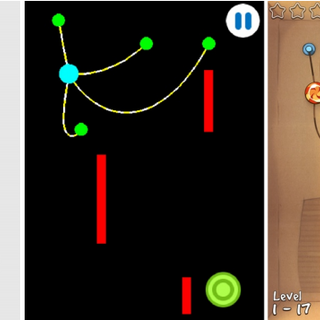 Left to right: a sketch of a level; physical model; a level in the game.
