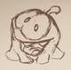Om Nom sketch in pencil