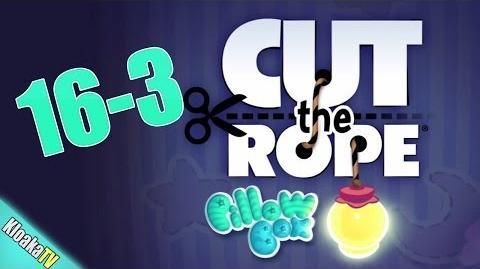 Cut The Rope 16-3 Pillow Box Walkthrough (3 Stars)