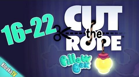 Cut The Rope 16-22 Pillow Box Walkthrough (3 Stars)