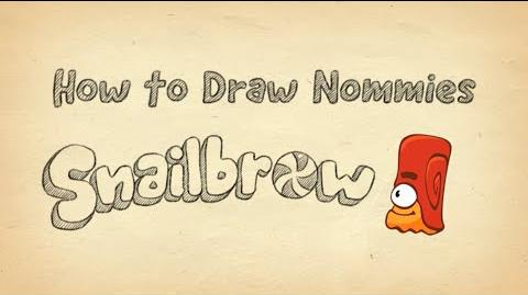 How to Draw Snailbrow from Cut the Rope 2