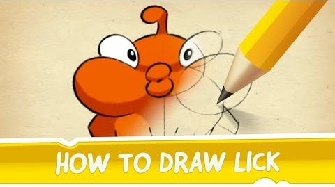How to Draw Lick from Cut the Rope 2-0