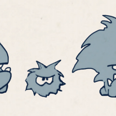Sketches of horrible monsters for <a href=