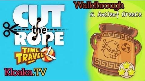 Cut The Rope Time Travel - Ancient Greece Walkthrough (3 Stars) Levels 5-1 to 5-15
