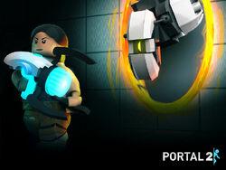 Lego Portal wallpaper 1
