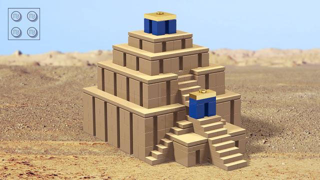 Mesopotamian Ziggurat Micro Model