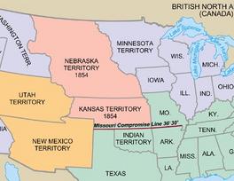 Kansas-Nebraska Map