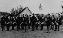 Civil war soldiers fife and drum players