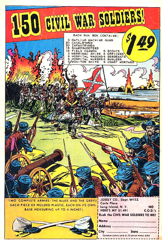 COMICAD toy soldiers 150 civil war