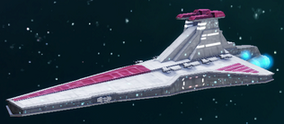 Republic Attack cruiser CWA