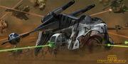 Gunship In Battle