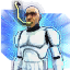 Icon hologram wormHead 64
