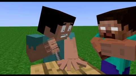 ORIGINAL Minecraft Short Animation The Knife Game Song-0