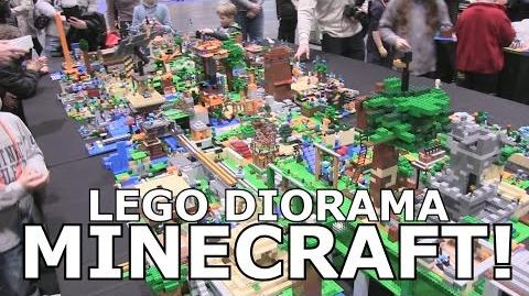 Enormous LEGO Minecraft Record Breaking MOC Diorama!!!