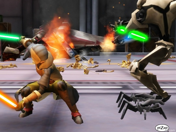 File:Kol engages Grevious in a duel aboard his Venator Class Cruiser.jpg