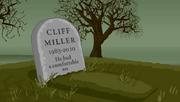 Cliff Miller's grave