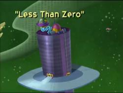 Less Than Zero Title Card