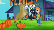 Watts of Halloween Trouble Title Card