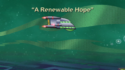 A Renewable Hope Title Card