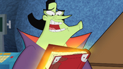 The Secrets of Cyberchase book is opening