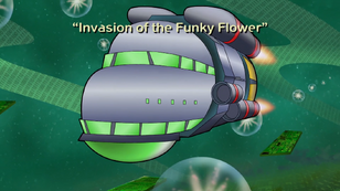 Invasion of the Funky Flower title screen