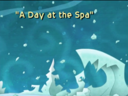 A Day at the Spa Title Card