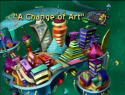 A Change of Art Title Card