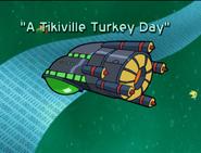 A Tikiville Turkey Day Title Card