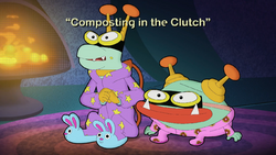 Composting in the Clutch Title Card