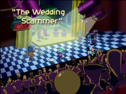 The Wedding Scammer Title Card