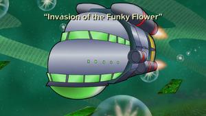 Funky flower title card