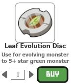 Leaf evolution disc