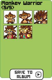 Family monkey warrior