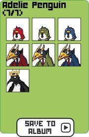Family adelie penguin