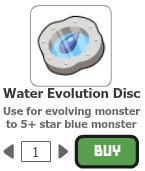 Water evolution disc
