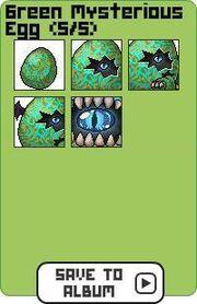 Family green mysterious egg