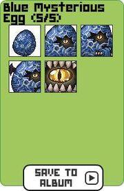 Family blue mysterious egg
